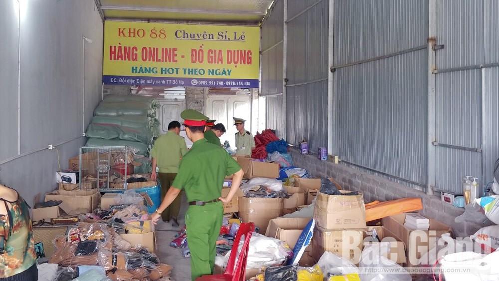 Phát hiện cơ sở kinh doanh hàng hóa sai phạm tại phố Ba Gốc, thị trấn Bố Hạ
